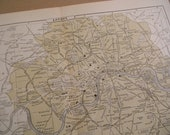 1903 City Map London England - Vintage Antique Map Great for Framing 100 Years Old