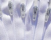 18 Inch White 100 Zippers YKK Coil  Dress  YKK Zippers~Wholesale pricing~Made in usa~ZipperStop Wholesale Authorized Distributor YKK®