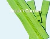 "36"" Ykk jacket Zippers we- 36 inch Vislon Jacket Zipper YKK 5 Molded Plastic Medium Weight - Separating - Select Color"