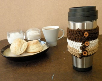 Latte Buttoned Coffee Cuff
