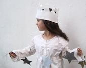 Organic Wool Felt Crown Toy - Kids Birthday Crown - Queen King Play Crown - Eco Friendly Childrens Gift