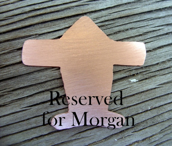 Reserved for Morgan- a stylized airplane guitar pick-Hand stamped copper guitar pick