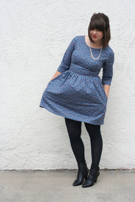 For Amy- Long Sleeve Dress with Peter Pan Collar