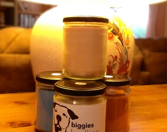 Handcrafted 12 oz Soy Candle for Biggies Bullies