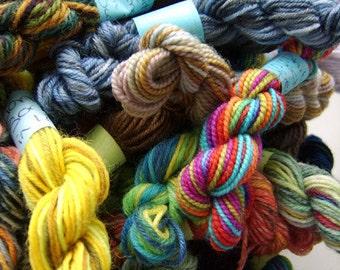 Rainbow Surprise -  Mini Skeins Fingering Sock Yarn Kit - Mini Mania (12)