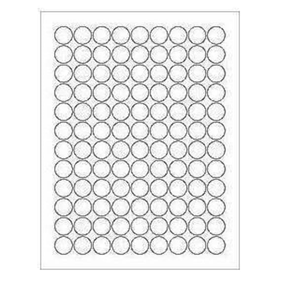 Half Inch Round Labels 6 Sheets 378 3 4 Blank Round Circle White Stickers By Kimmeric