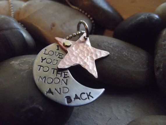 To the moon and Stars Pendant