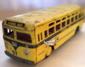 Vintage Metal School Bus