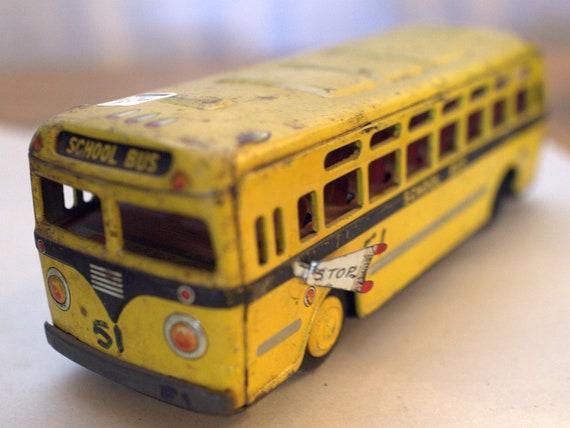 Vintage Metal School Bus