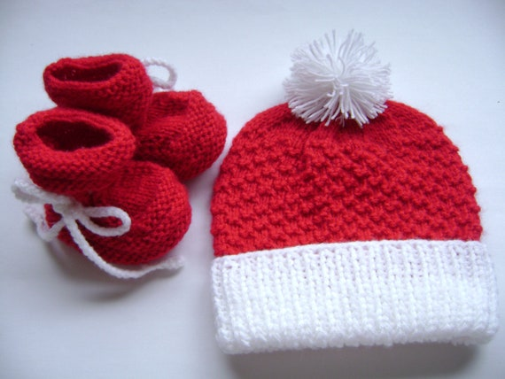 SALE   Baby  Hat and Booties Set. Unisex Baby Set. Hat and Booties  2 to 6 Months