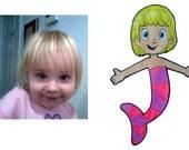Bulle guppys enfants Kids Stickers Autocollants personnalisé garçon parti grande fille caractères