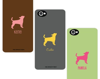 Smart Phone Case Dog Silhouette -  Custom Phone Case - iPhone - Samsung Galaxy - Dog Breed - You Design