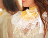 Lemon Yellow Neck Warmer - Victorian Fashion Collar