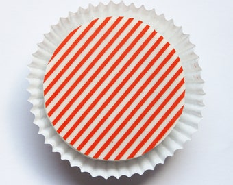 1 Dozen ORANGE PINSTRIPE Designer Chocolate Covered Oreos - Birthday Gift Favor Fall Halloween Autumn Party