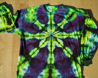 Tie Dye Greens n Purples Long Sleeve