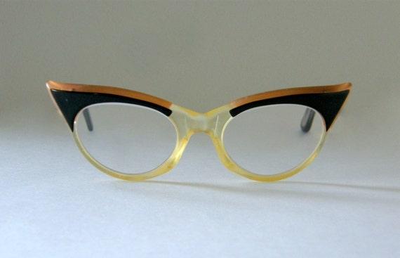 Vintage Cateye Glasses: 1950s Mid-Century Women's Eyewear Cat Eyes, Free Shipping in U.S.