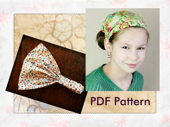 childrens fabric headband pattern for children wide headband