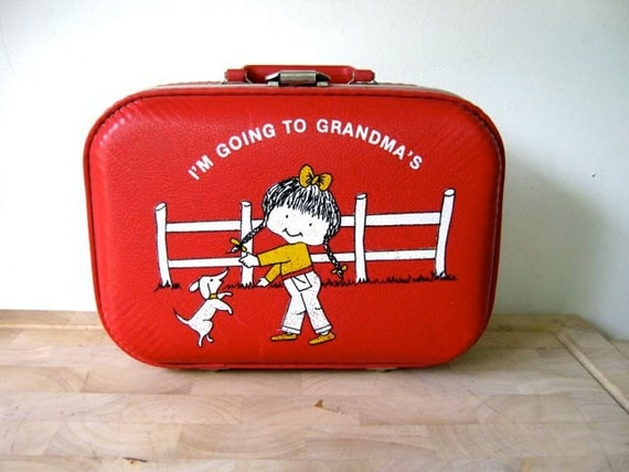 Going To Grandma S Luggage Vintage Suitcase