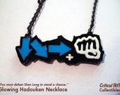 Glowing Hadouken Necklace - video game jewelry geek pendant combo street fighter tekken dead or alive