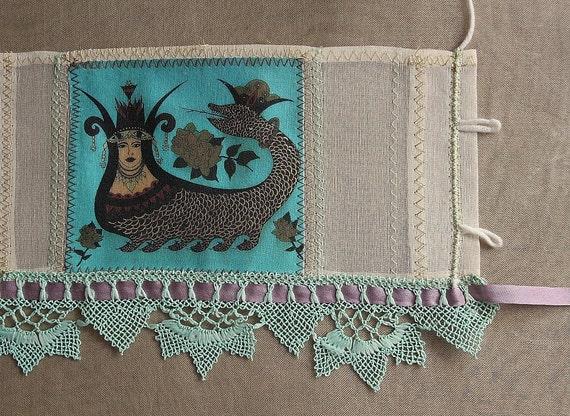 reserved - wrist Cuff, Silk Bracelet / Textile Jewelry