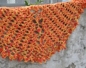 crochet beginner shawl - Tumbling Diamonds - any weight any gauge any size top down half circle pattern only