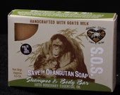 Save the Orangutan Soap Shampoo and Body Bar with Rosemary essential oil
