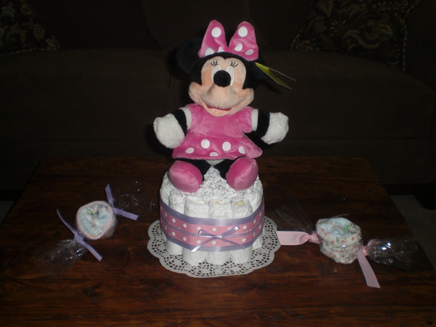 minnie mouse diaper cakes baby shower centerpieces other