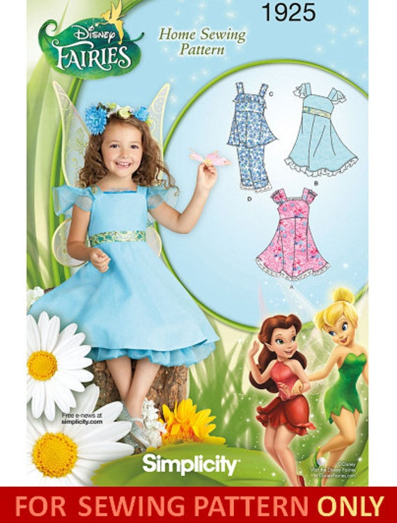 SALE COSTUME PATTERN / Make Disney Tinkerbell - Fairy Dress - Tank Top - Pants - Child Size 3 to 8 Years