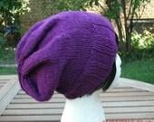 Hand Knit Hat - The Lizzie  Rasta Slouch - Unisex Hat - Womens Hat - Womens Fashion