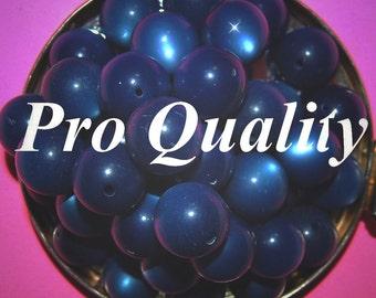 Vintage 12 Royal Blue Moonglow 16mm Beads 16MM   EL1
