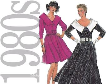 80s Dress Vintage Pattern - B31 to B40 - New Look 6088 - Uncut, Factory Folds