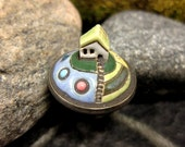 Candy Garden...Miniature Landscape Ring in Stoneware