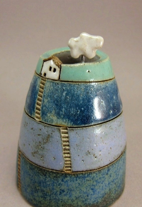 Cloud Collector...Bud Vase / Pen Holder in Stoneware