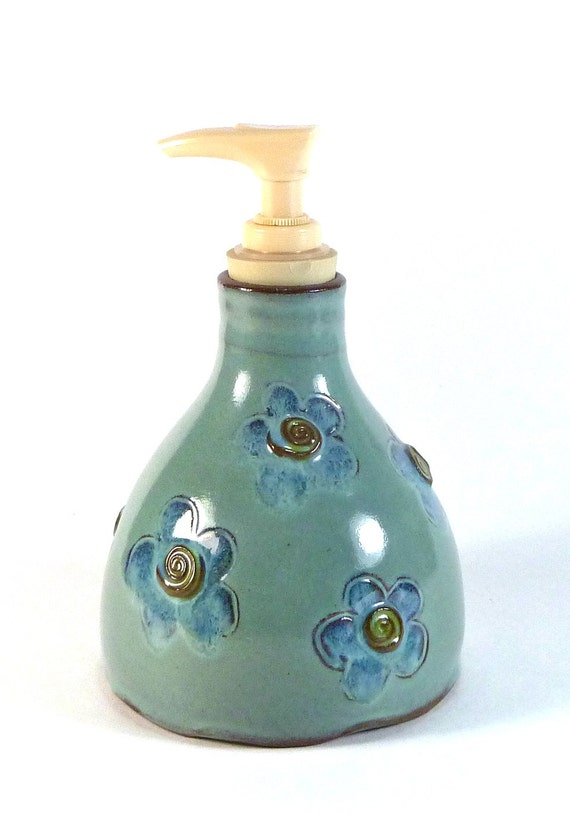 handmade ceramic soap dispenser