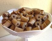 Vintage Wood Thread Spools 12 Empty Wooden Spools for Crafting Dozen - Last Set