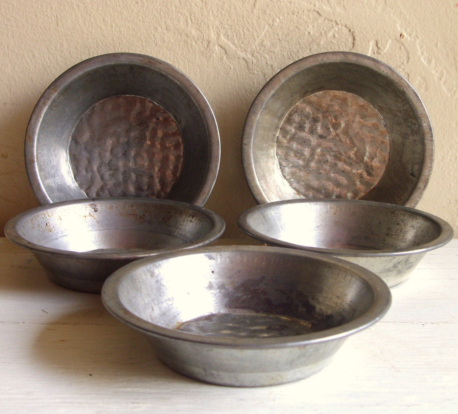 Metal Pie Tins Small Individual Molds Silver Dishes 5