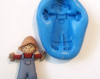 SCARECROW  Flexible Silicone Push Mold for Polymer clay, Resin,Wax,Miniature Food,Sweets,plaster