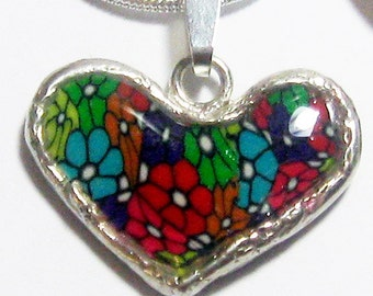 Beautiful 925 Silver Heart pendant  Chain by Jewelry Designer Orly