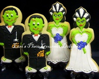 "Frankenstein Cookies - Bride of Frankenstein Cookies - ""12"" Cookies"