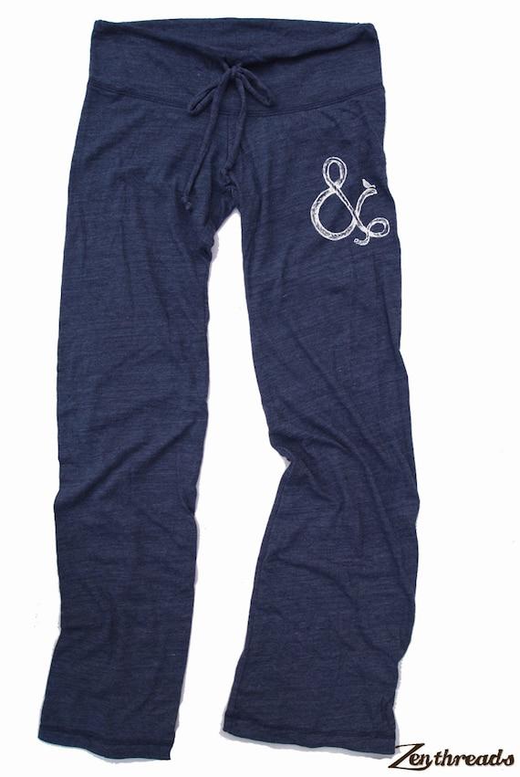 Womens AMPersand & Bird: Eco Heather NAVY Alternative Earth Drawstring Pants (S M L or XL)