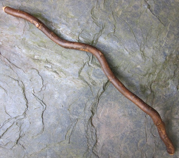 Serpentine Natural Wood Wand - Willow - for Lunar or Water Magic.