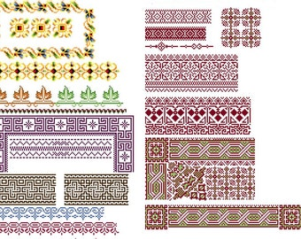 Amazing borders 1 - Cross stitch pattern PDF. Instant download