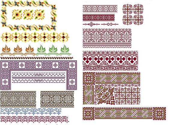 Amazing borders 1 - Cross stitch pattern