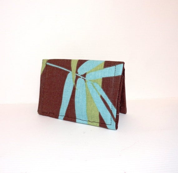 Fabric Business Card Holder, Credit Card, Business Card, Cloth Card Holder  Brown Bamboo