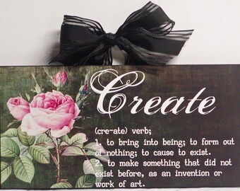 Shabby Cottage Definition Of Create wood Wall Plaque