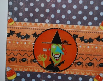 Handmade Halloween Greeting Card - Blank Inside