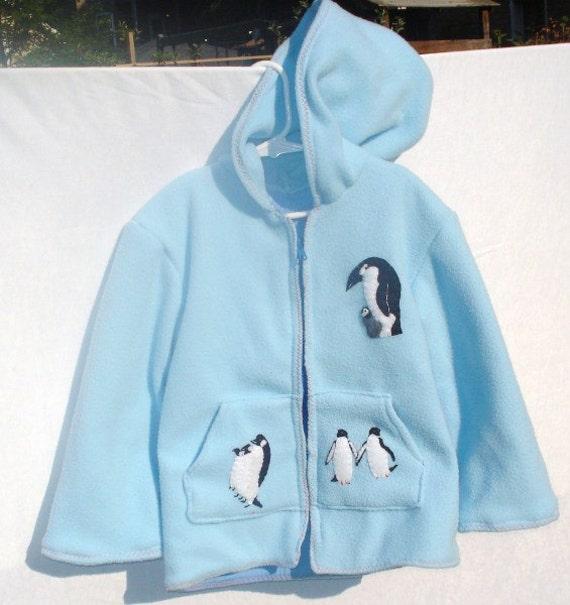 Size 5 Penguin Fleece Jacket with Hood