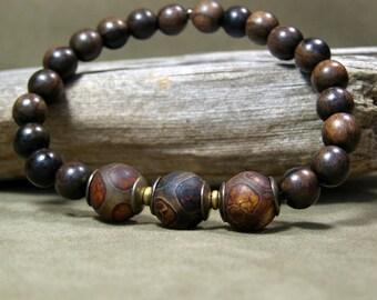 Mens Beaded Bracelet, Wood Bracelet, Mens Jewelry, Mens Fashion, Beaded Bracelet, Bracelet for Men, Mens Bracelet, Stack Bracelet