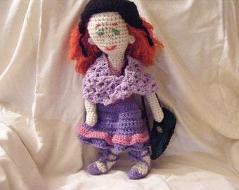 Crocheted Artistic Annie Doll