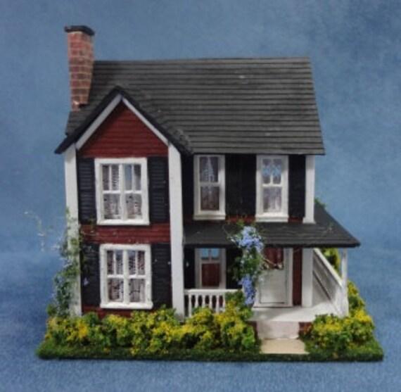 HO Scale Farmhouse Dollhouse for the Dollhouse